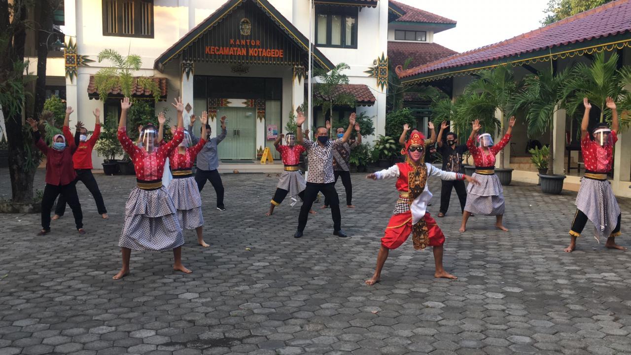 Kecamatan Kotagede Turut Serta dalam Flashmob Tari Secara Online HUT Ke-264 Kota Jogja