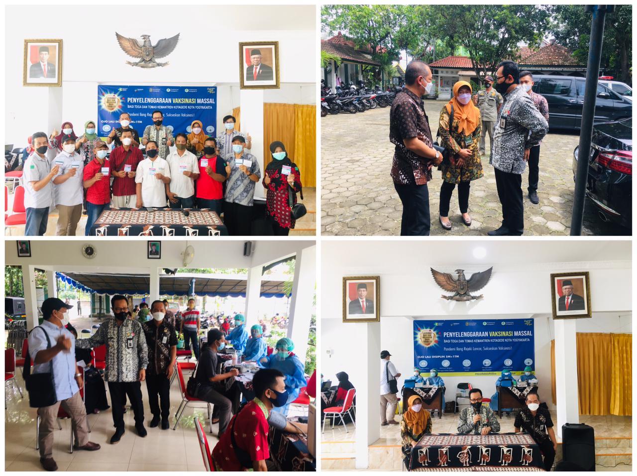 Wakil Walikota Yogyakarta Tinjau Langsung Vaksinasi untuk Tokoh Agama/Masyarakat di Kemantren Kotagede