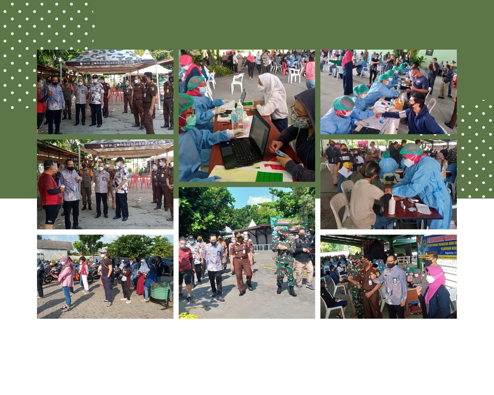 Peringati Hari Bhakti Adhyaksa ke-61, Kejaksaan Negeri Kota Yogyakarta Adakan Vaksin Massal